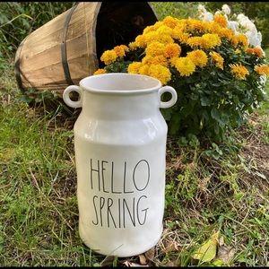"New Rae Dunn Pottery ""HELLO SPRING"" Vase"